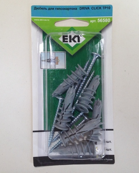 Упаковка EKT дюбеля Drive Click TP10