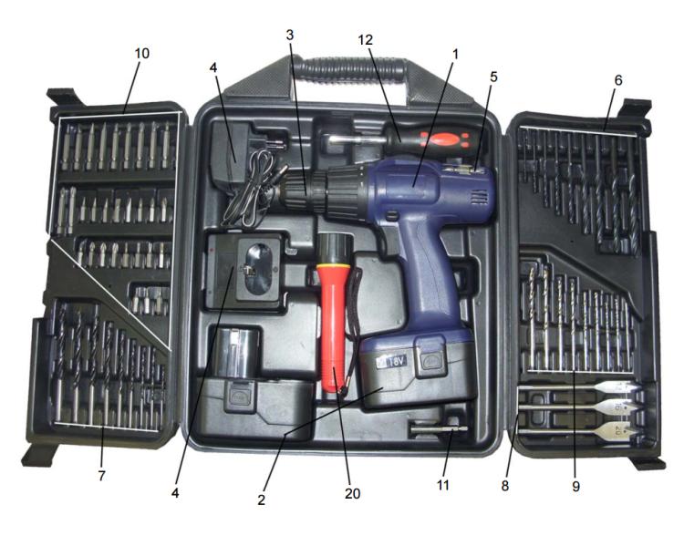 Вариант 2 (кейс - 74 предмет) комплектации Диолд ДЭА-18Т
