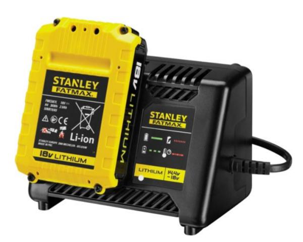 Аккумулятор от шуруповёрта Stanley 18V Li-Ion и зарядное устройство