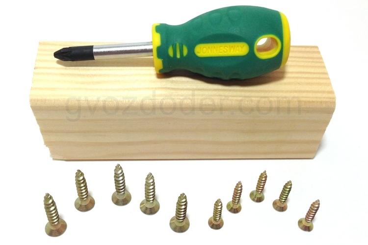 Проверка в работе отвёртки Jonnesway Anti-slip Grip PZ2 94mm