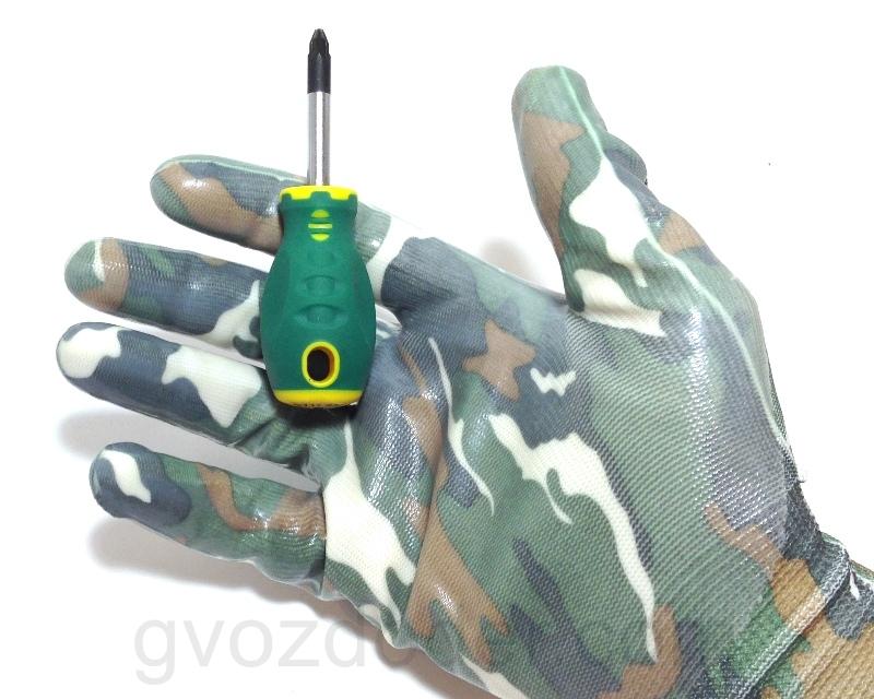 Крестовая отвёртка Jonnesway Anti-slip Grip PZ2 94mm
