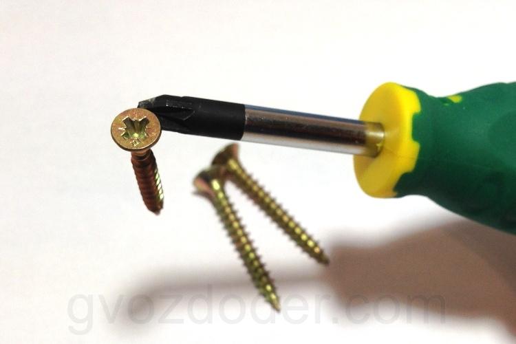 Наконечник отвёртки Jonnesway Anti-slip Grip PZ2 94mm