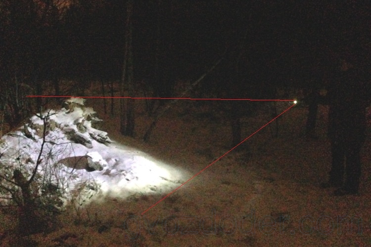 Фонарь Led Lenser i6ER в лесу
