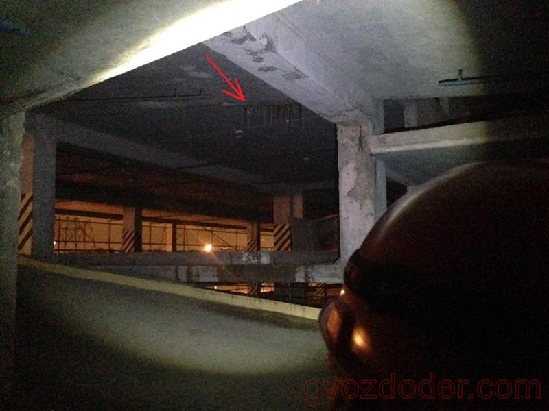 Ближний свет фонаря Led Lenser H6R