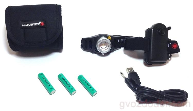 Комплектация фонаря Led Lenser H6R
