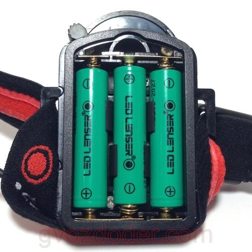 Батарейный отсек фонаря Led Lenser H6R