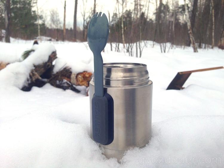 Вилко-ложка термоса для еды Stanley 0.53 Steel