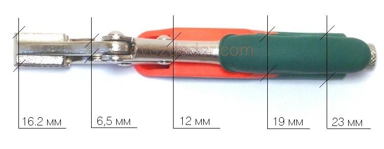 Габариты ручных тисков Jonnesway P30M07C