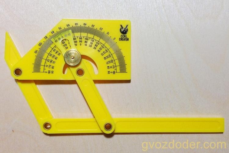 Измеритель углов — транспортир KWB