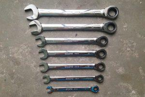 Набор комбинированных трещоточных ключей Ombra