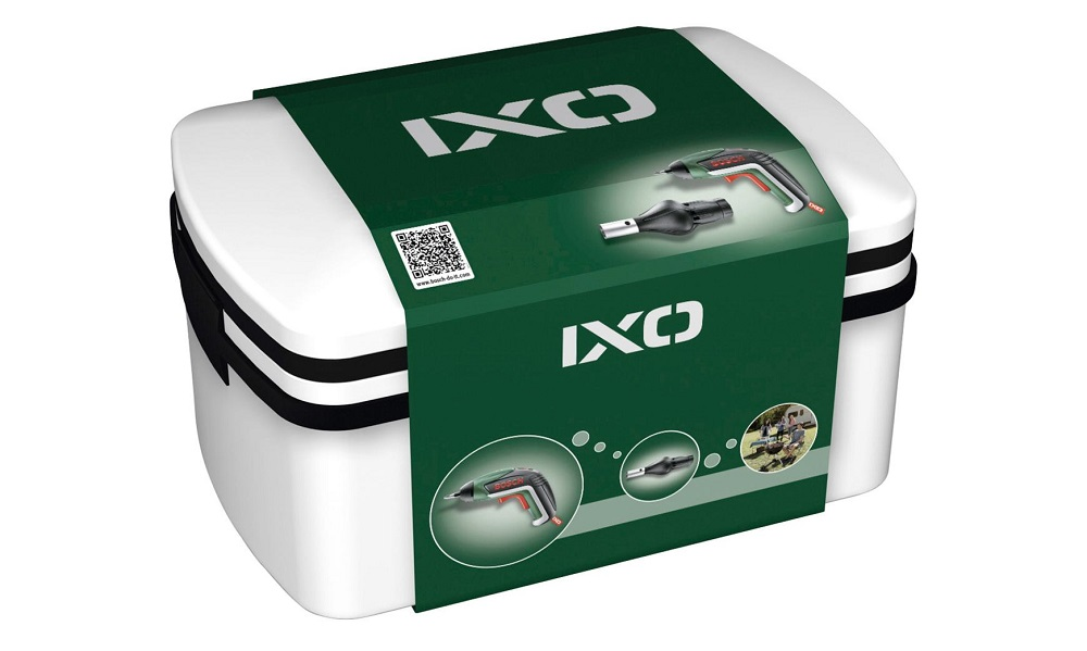 Упаковка Bosch IXO в комплектации Full