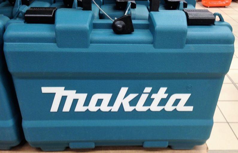 Makita поставляется в массивном пластиковом кейсе