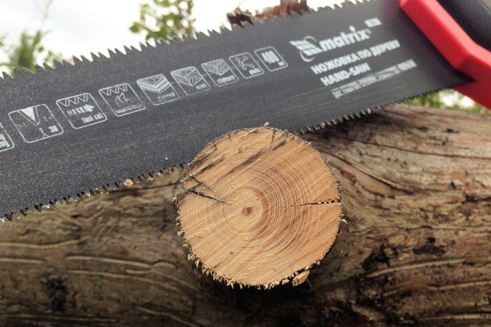 Как ножовка пилит сырую древесину