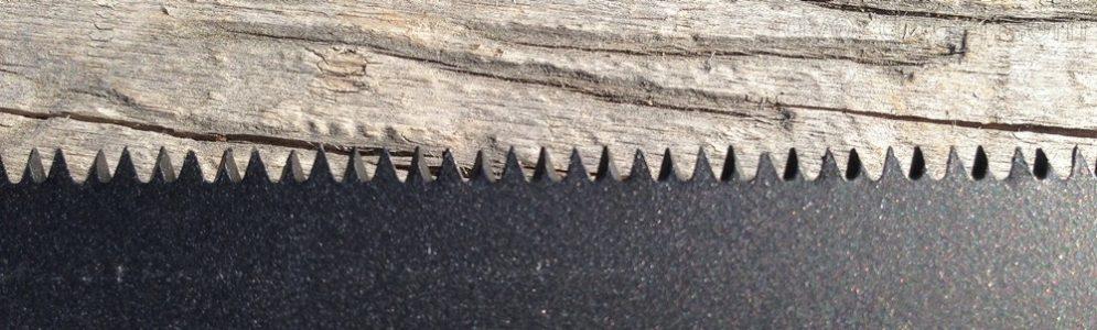 Мелкий двугранный зуб ножовки Matrix