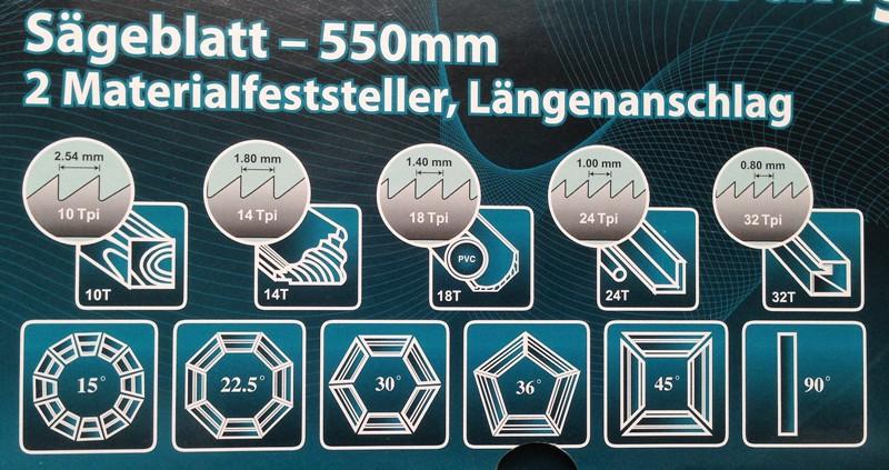 Надписи на упаковке прецизионного стусла на немецком