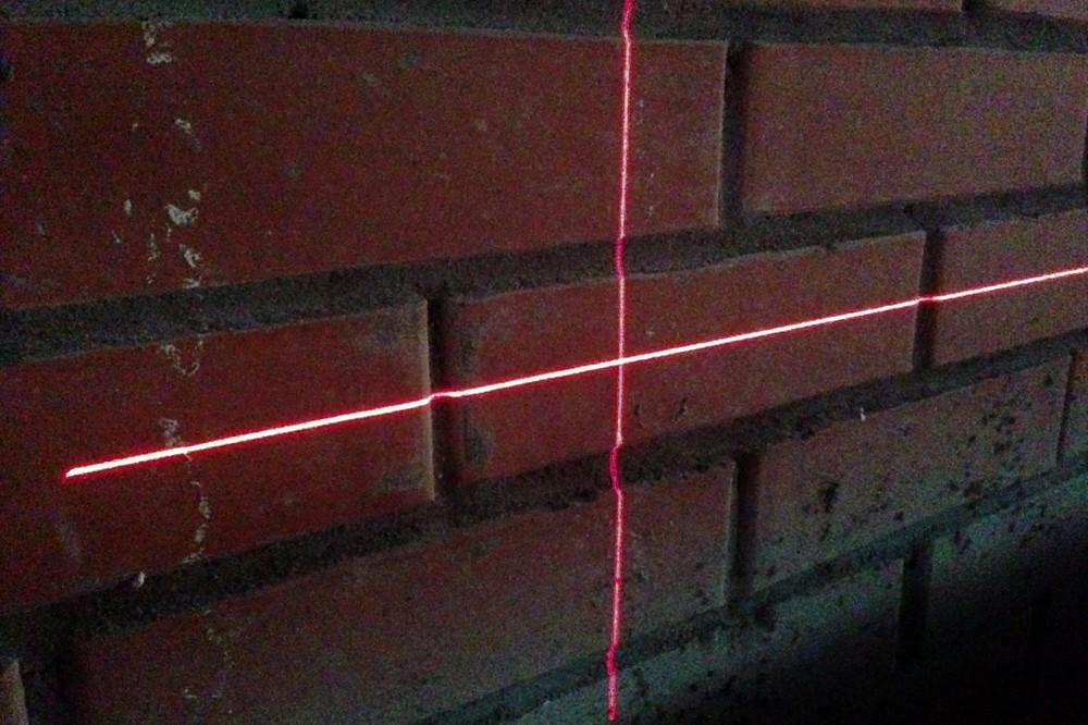 Толщина лазерной линии с расстояния 6 метров